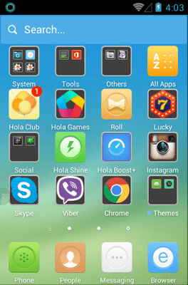 The Subtle Blue Hola Launcher Android Theme Image 2