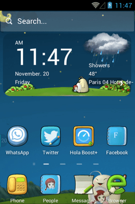 Cute Baby Hola Launcher Android Theme Image 1