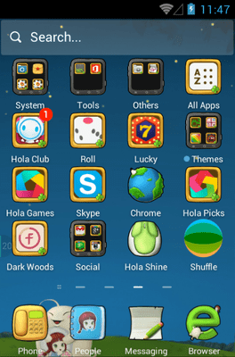 Cute Baby Hola Launcher Android Theme Image 2