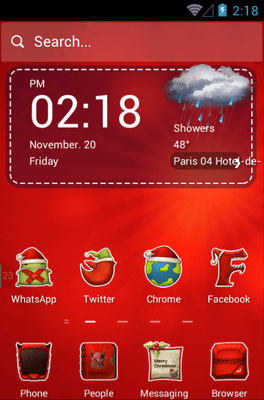 Merry Christmas Hola Launcher Android Theme Image 1