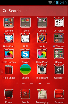 Merry Christmas Hola Launcher Android Theme Image 2