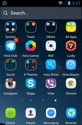 Silent Hola Launcher Android Theme Image 2