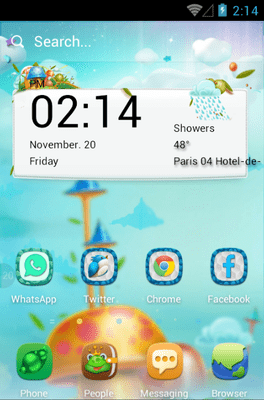 Mushroom Forest Hola Launcher Android Theme Image 1