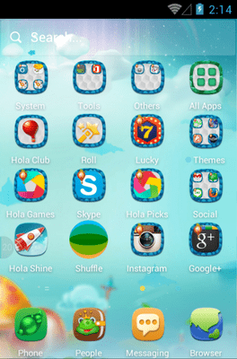 Mushroom Forest Hola Launcher Android Theme Image 2