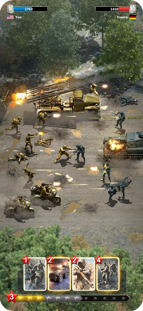 Heroes Of War: WW2 Idle RPG Android Game Image 3