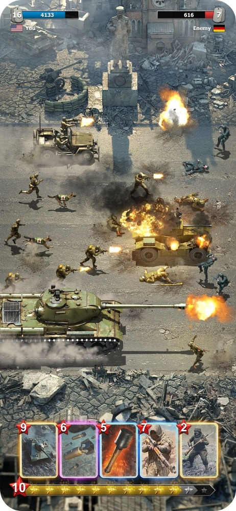 Heroes Of War: WW2 Idle RPG Android Game Image 4