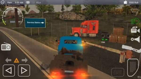 Russian Car Driver ZIL 130 Android Game Image 1