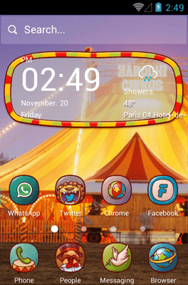 Circus Fun Hola Launcher Android Theme Image 1