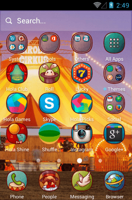 Circus Fun Hola Launcher Android Theme Image 2