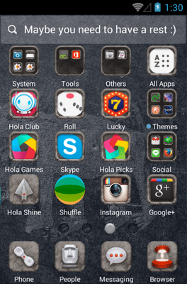 Long Long Ago Hola Launcher Android Theme Image 2