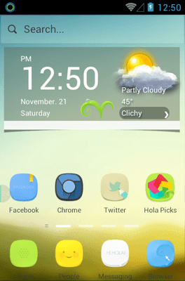 Morning Light Hola Launcher Android Theme Image 1