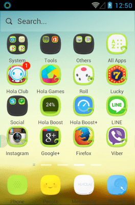 Morning Light Hola Launcher Android Theme Image 2