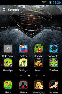 The Dark Hero Hola Launcher Android Theme Image 1