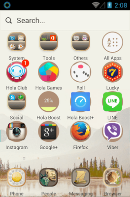 Fusion China Hola Launcher Android Theme Image 2