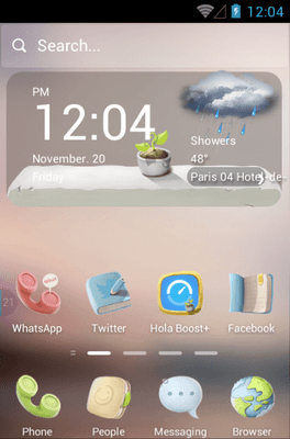 Peaceful Hola Launcher Android Theme Image 1