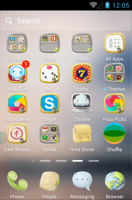 Peaceful Hola Launcher Android Theme Image 2