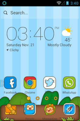 Sly Cat Hola Launcher Android Theme Image 1