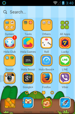 Sly Cat Hola Launcher Android Theme Image 2