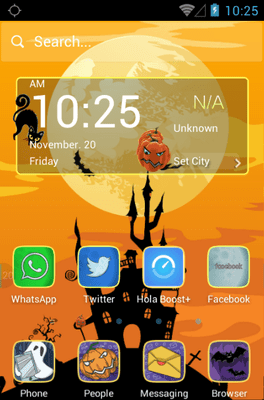 Spooktacular Hola Launcher Android Theme Image 1