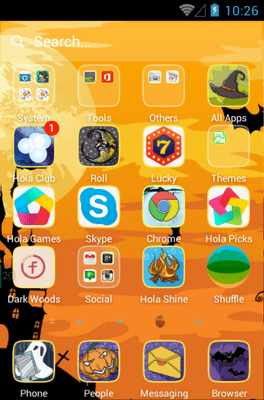 Spooktacular Hola Launcher Android Theme Image 2
