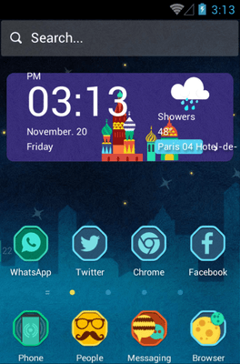 The Russian Venice Hola Launcher Android Theme Image 1