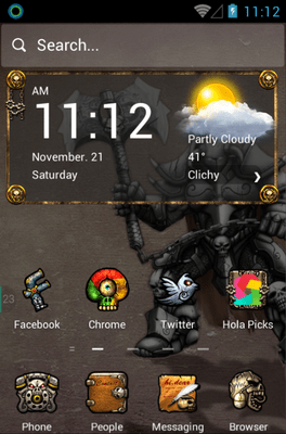Demon Warrior Hola Launcher Android Theme Image 1