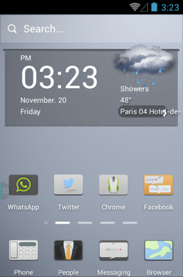 Pale Style Hola Launcher Android Theme Image 1