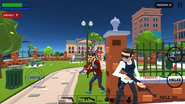 Polygon Cover Strike: Top Down Shooter Games Android Game Image 1