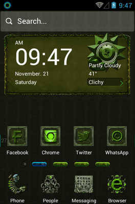 Dangerous Ruins Hola Launcher Android Theme Image 1