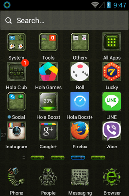 Dangerous Ruins Hola Launcher Android Theme Image 2