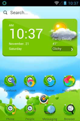 MonsterOce Hola Launcher Android Theme Image 1
