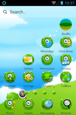 MonsterOce Hola Launcher Android Theme Image 2