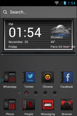 Men In Black Hola Launcher Android Theme Image 1