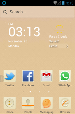 Beige Hola Launcher Android Theme Image 1