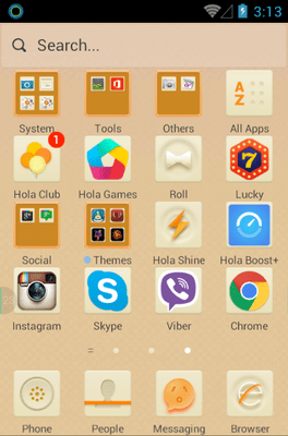 Beige Hola Launcher Android Theme Image 2
