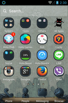 Magic Legend Hola Launcher Android Theme Image 2