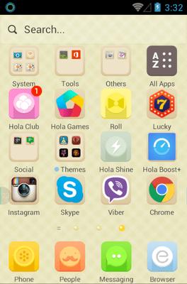 Peachy Peach Hola Launcher Android Theme Image 2