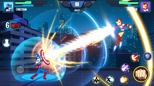 Stickman Superhero - Super Stick Heroes Fight Android Game Image 1