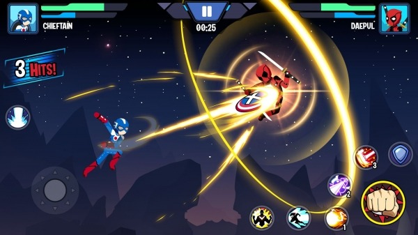 Stickman Superhero - Super Stick Heroes Fight Android Game Image 2