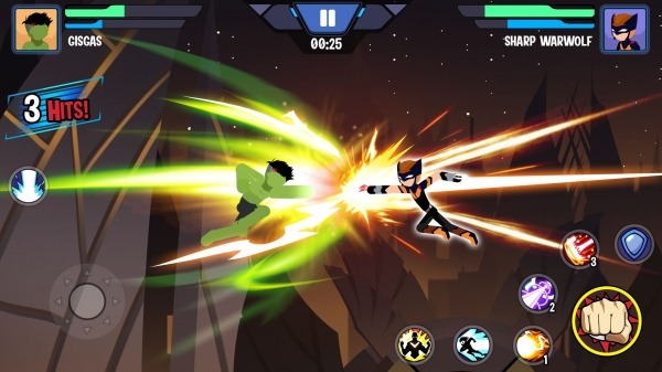 Stickman Superhero - Super Stick Heroes Fight Android Game Image 4