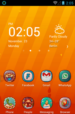 Hola Day Hola Launcher Android Theme Image 1