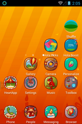 Hola Day Hola Launcher Android Theme Image 2