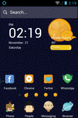 Pilgrimage Of The Four Hola Launcher Android Theme Image 1
