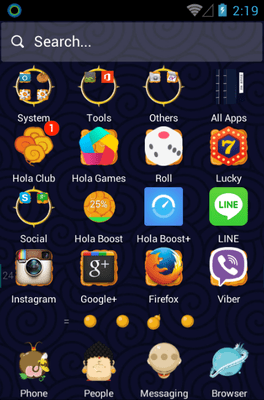 Pilgrimage Of The Four Hola Launcher Android Theme Image 2