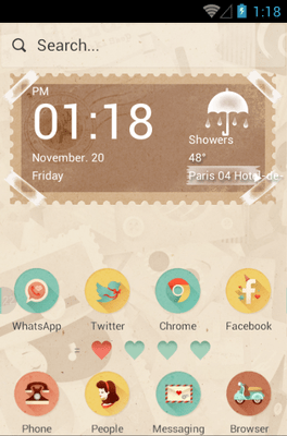 She & He Hola Launcher Android Theme Image 1