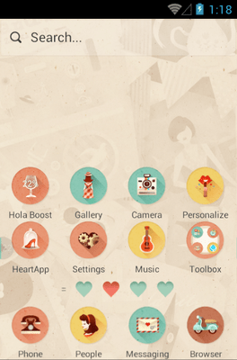 She & He Hola Launcher Android Theme Image 2