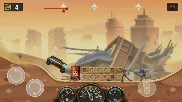 Zombie Hill Racing - Earn To Climb: Apocalypse Android Game Image 3