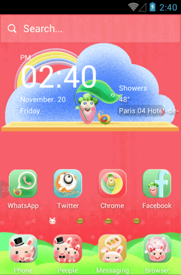 Rabbit Family Hola Launcher Android Theme Image 1