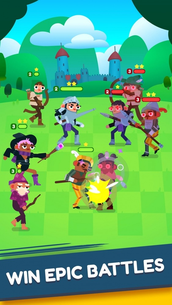 Heroes Battle: Auto-battler RPG Android Game Image 3