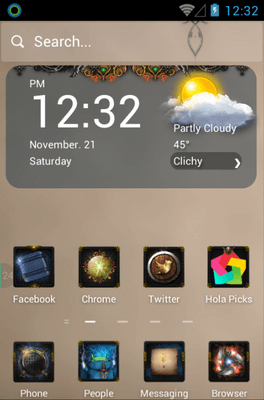 Knight Legend Hola Launcher Android Theme Image 1